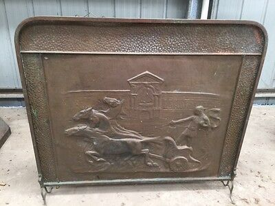 Fire Surround/Fire Guard - Horses and Chariot Race