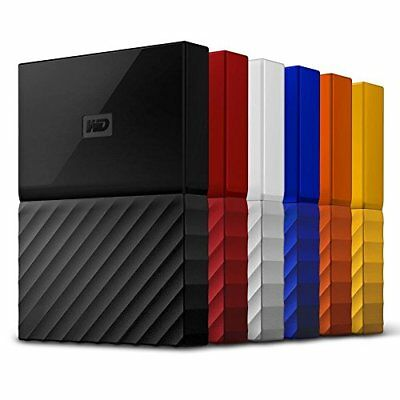 WD 1TB 2TB 4TB My Passport Portable Hard Drive and Auto Backup Software New!