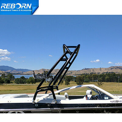 Promotion Reborn Launch Forward-facing Wakeboard Tower Glossy Black