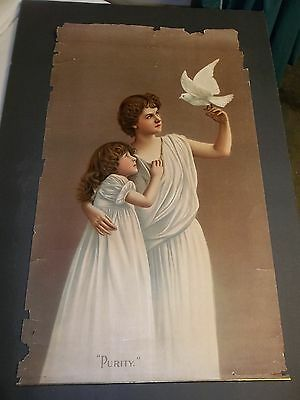 large star soap schultz & co. lithograph picture PURITY panel 46 15x24-in.