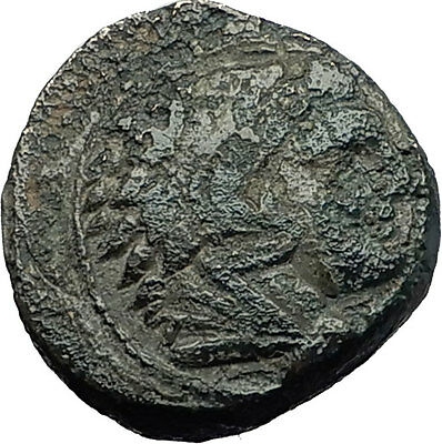 ALEXANDER III the GREAT 323BC Hercules Club Macedonia Ancient Greek Coin i59285