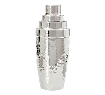 Pottery Barn hammered nickel Cocktail Shaker new original $39.50