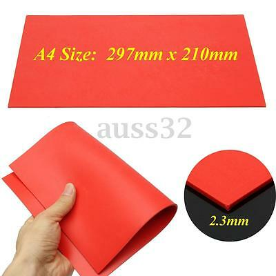 297x210mm Orange Rubber Stamp Sheet for Laser Engraving Machine A4 Size 2.3mm