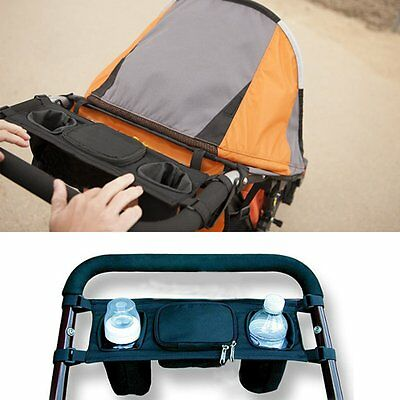 Travel Baby Pram Storage Bag Diaper Stroller Organizer Pushchair Bottle Basket w