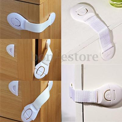 10X Child Baby Safety Locks Proof Fridged Door Lock For Cabinets Drawers Toilets