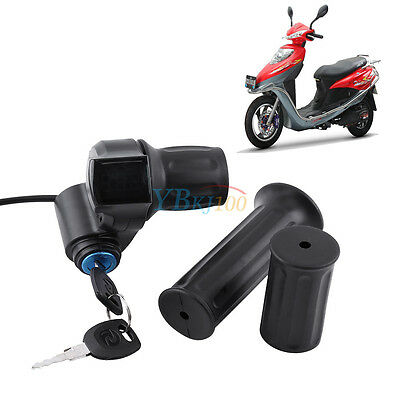12V 24V 36V 48V Half Twist Throttle Control Grip Handlebar DH For Scooter Ebike