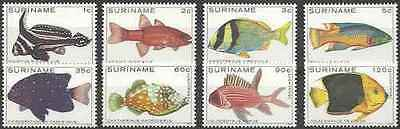 Timbres Poissons Surinam 759/63 PA82/4 ** lot 18502