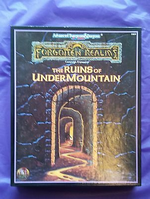 TSR1060 The Ruins of Undermountain, Forgotten Realms, AD&D 2nd ed, VGC