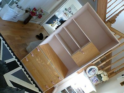 Girls Bedroom Unit by Meredew in Pastel Pink and Pine. C679