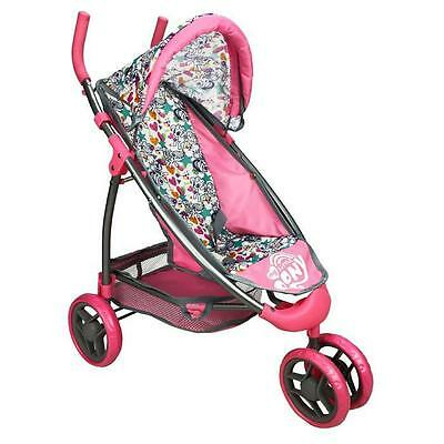 Br New Beautiful Pony Baby Doll Jogger Pram Stroller for Kid Children or Pet Toy