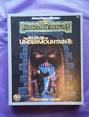 TSR1104 The Ruins of Undermountain II, Forgotten Realms, AD&D 2nd ed, VGC