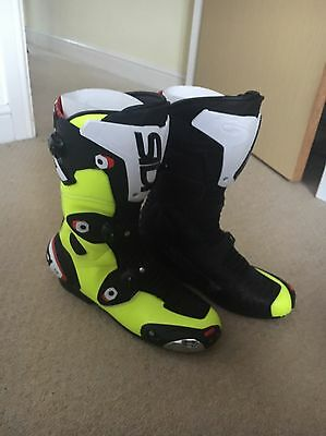 Sidi Mag 1 Boots Fluorescent Yellow Size 10.5