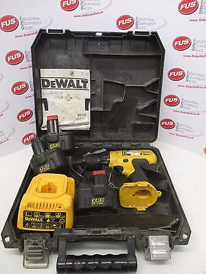 Dewalt DC727 Cordless Drill, 3 x 12V Batteries And Battery Charger - Used