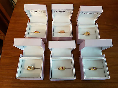 Brand New Good Quality Rings In Boxes, Ideal Gift Or Ideal For Re-Sale - Bargain