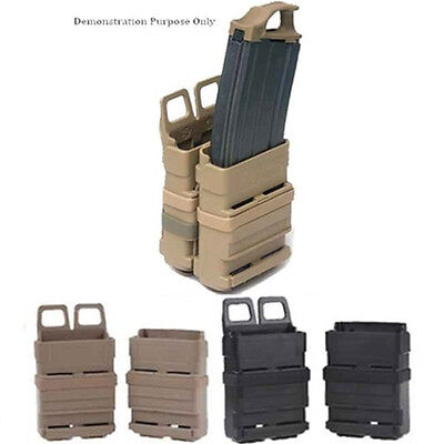 Tactical Fast Mag Attach Belt Magazine Pouch 5.56 Molle Holster Outdoor -Hunting