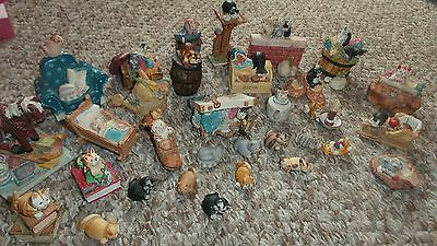 Peter Fagan Cats made and hand painted in Scotland lot of 35 pieces