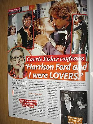 CARRIE FISHER & HARRISON FORD - 1 page magazine clipping
