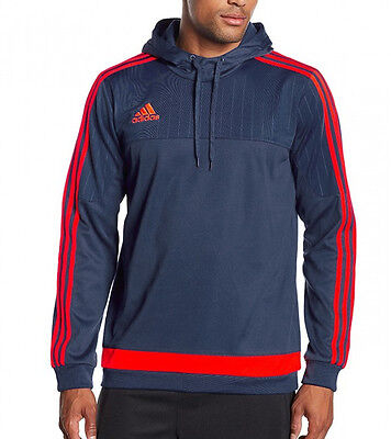 adidas Tiro 15 Mens Hooded Top - Blue