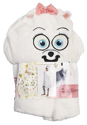 Girls Secret Life Of Pets Cuddle Blanket Gidget Hooded Snuggle Fleece Kids Gift