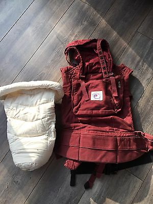 Ergo Baby Carrier Plus Infant Insert - Cranberry