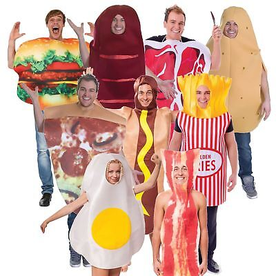 Adults Mens Womens Fun Food & Drink Hen Stag Night Fancy Dress Party Costume