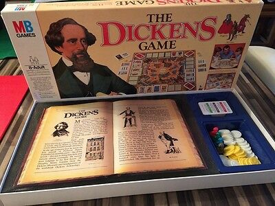 Vintage The Dickens Board Game by MB Games COMPLETE VGC - Collectable