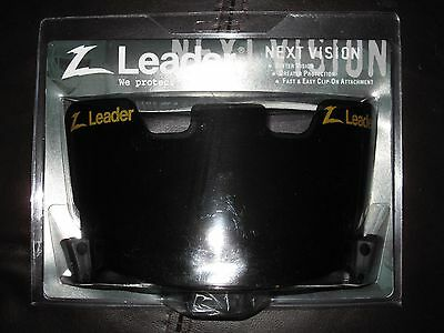 Z-LEADER Football Helmet Facemask New Condition Eye Shield Visor VERY DARK Game