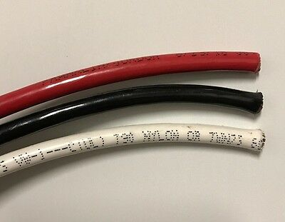100' Ea Thhn Thwn 6 Awg Gauge Black  Red White Stranded Copper  Building Wire
