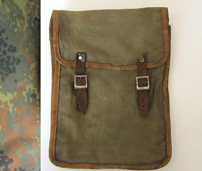 Wwi Original German Military Officer Canvas Side Bag For Maps & Documents