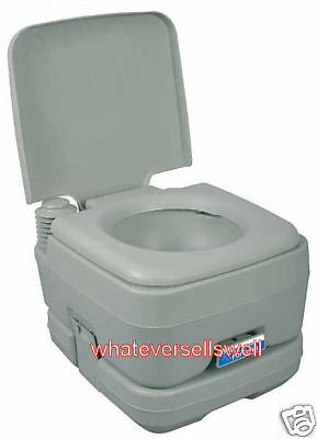 FLUSHING PORTABLE TOILET chemical loo camping caravan