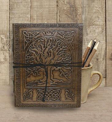 Handmade Leather Journal Diary Tree Of Life bound Sketchbook Notebook Gift Book