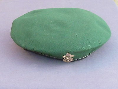 Green Thailand Boy Scouts Beret With Badge