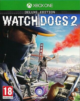 Watch Dogs 2 Deluxe Edition Xbox One Game BRAND NEW SEALED - PAL