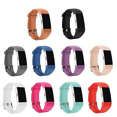 10PCS Replacement Bands Bracelet for Fitbit Charge 2 Wristband S/L