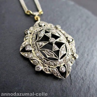 Art Deco Weißgold Collier mit Diamanten