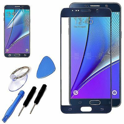 Blue Replacement Screen Front Glass Lens Kit For Samsung Galaxy Note 5 + Tools
