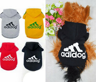 Small Dogs Casual Pet Dog Winter Warm Adidog Hoodie Coat Jacket Clothes Clothing