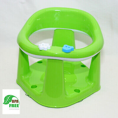 Baby Toddler Bath Support Seat Safety Bathing Safe Dinning Play 3 In 1 Green F