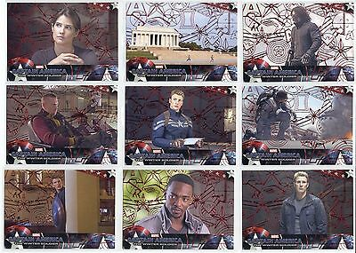 (18) LOT Marvel Captain America The Winter Soldier Red #/99 Black Widow Evans SP