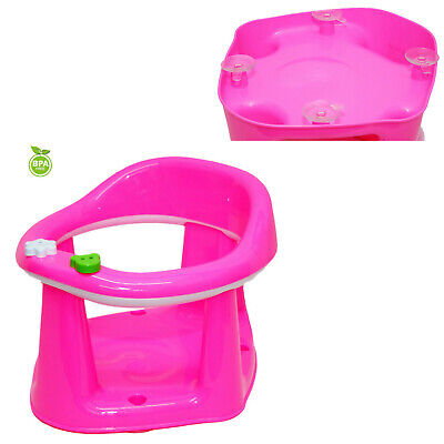 Baby Toddler Bath Support Seat Safety Bathing Safe Dinning Play 3 In 1 Pink