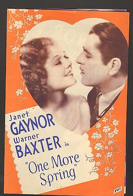 1935 Movie Advertisement One More Spring Janet Gaynor Warner Baxter Victory