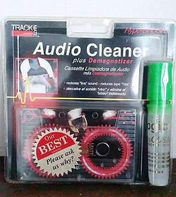 Audio Cassette Cleaner plus Tape Deck Demagnetizer Cleaning Solution - Green top