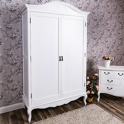 Large Double Wardrobe Bedroom Furniture Shabby Vintage Chic French Ornate Home