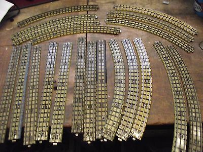 Hornby dublo 3 rail job lot track all useable condition sold as pictures