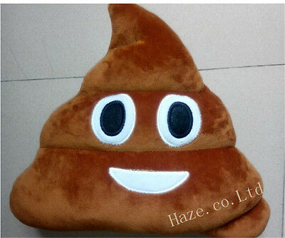 Stuffed Pillow Cushion Emoji Poo Shaped Smiley Face Doll Toy 1pc Xmas Decor