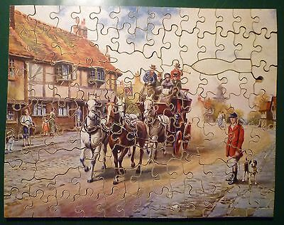 Vintage 'Victory' Plywood Jigsaw Puzzle - 'The Arrival of the Coach'