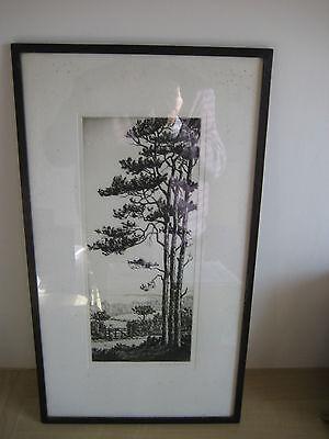 Etching By Harold Thornton, Country Scene