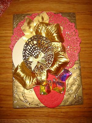 Pocket A6 scrapbook kit. GOLD   Over 150 items. Great value !!
