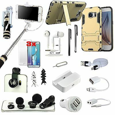 Kickstand Case Cover Charger Fish Eye Monopod Accessory For Samsung Galaxy S7