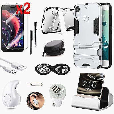 Case Cover+Dock Charger+Bluetooth Earphones Accessory Bundle Kit For HTC One M9